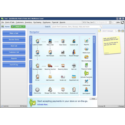 Intuit QuickBooks Point of Sale 2013 Multi-Store Image 1
